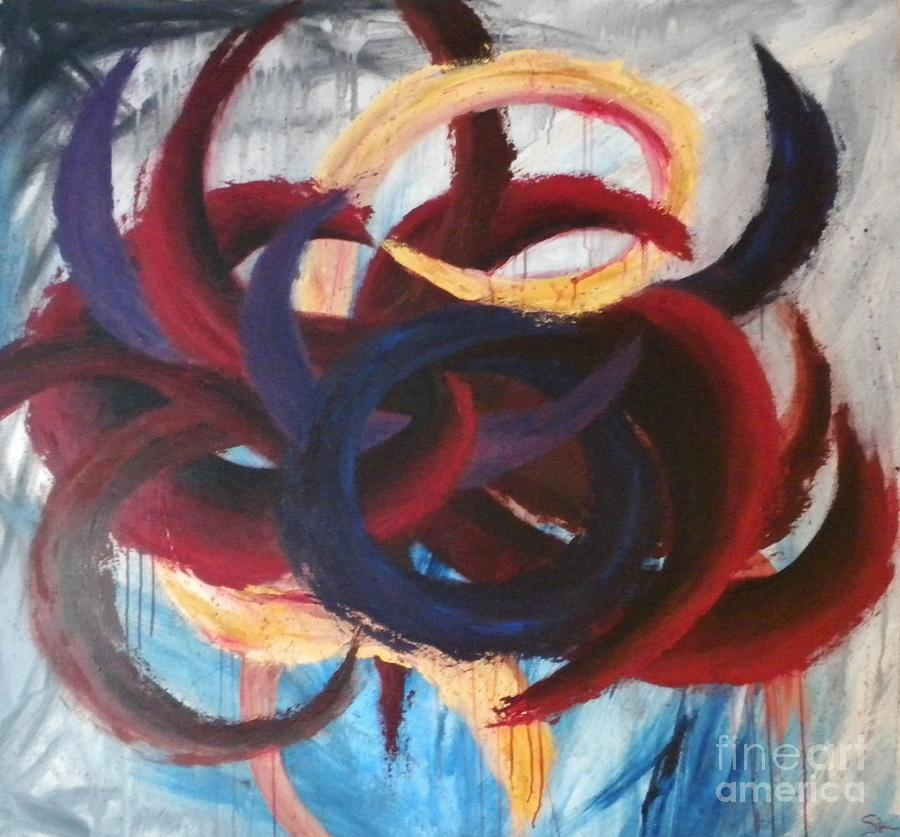 Abstract Painting - Self-portrait by Silvie Kendall