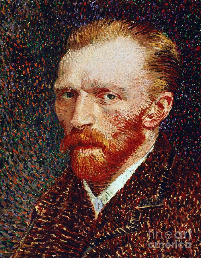 Art; Painting; 19th Century Painting; Europe; Nederland; Holland; Van Gogh Vincent; Post-impressionism ; Neo-impressionism Painting - Self-portrait by Vincent van Gogh