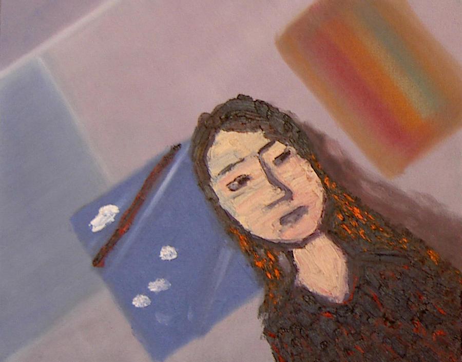 Portrait Painting - Self-portrait2 by Min Zou