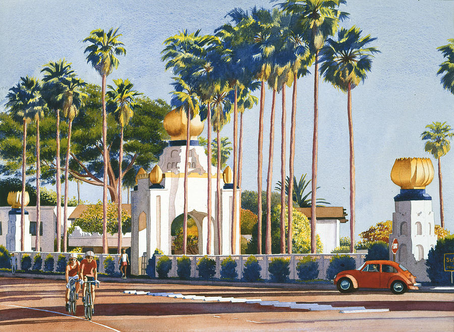 Self Realization Painting - Self Realization Fellowship Encinitas by Mary Helmreich