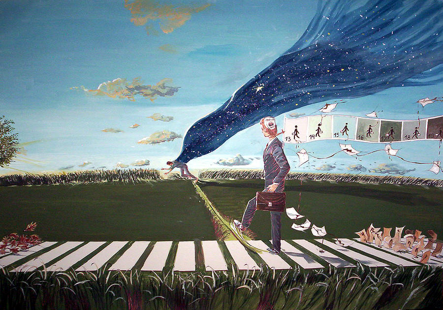 Surrealism Painting - Self - Sabotage by Lazaro Hurtado