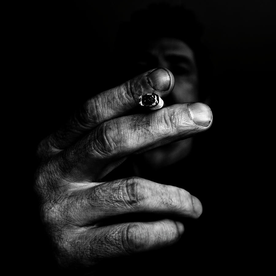 Self Smoking Photograph by Miguel Angel Samos Lucena