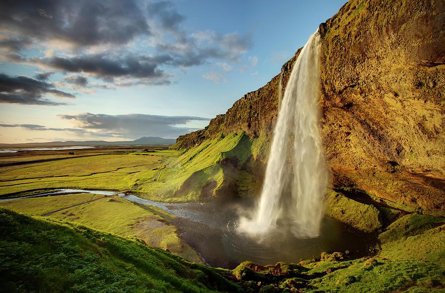 Landscape Photograph - Seljalandsfoss Iceland by Peter OReilly