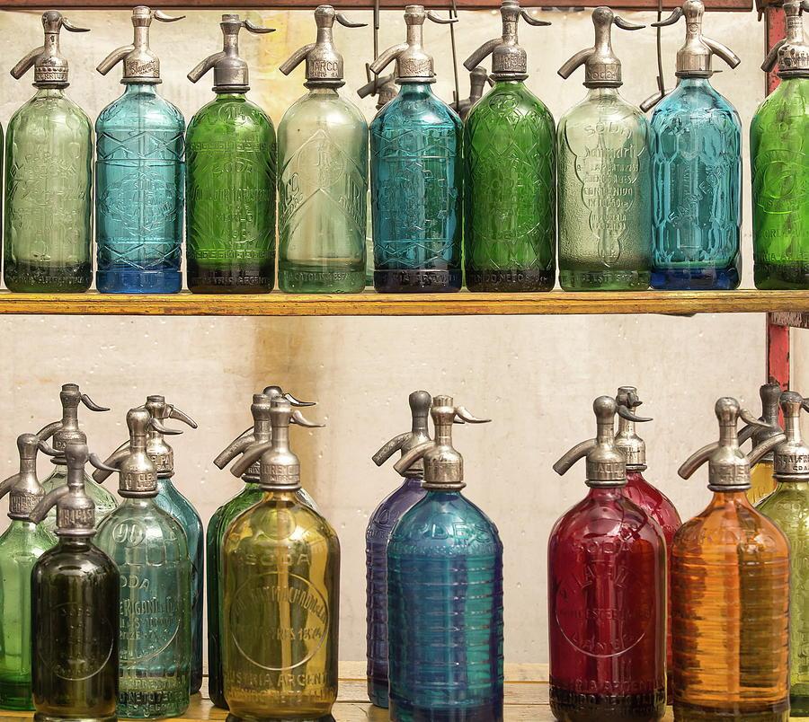 Bottles Photograph - Seltzer Bottles by Ugur Erkmen