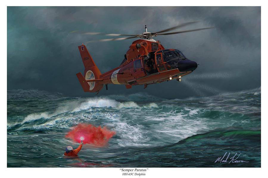 Coast Guard Painting - Semper Paratus by Mark Karvon