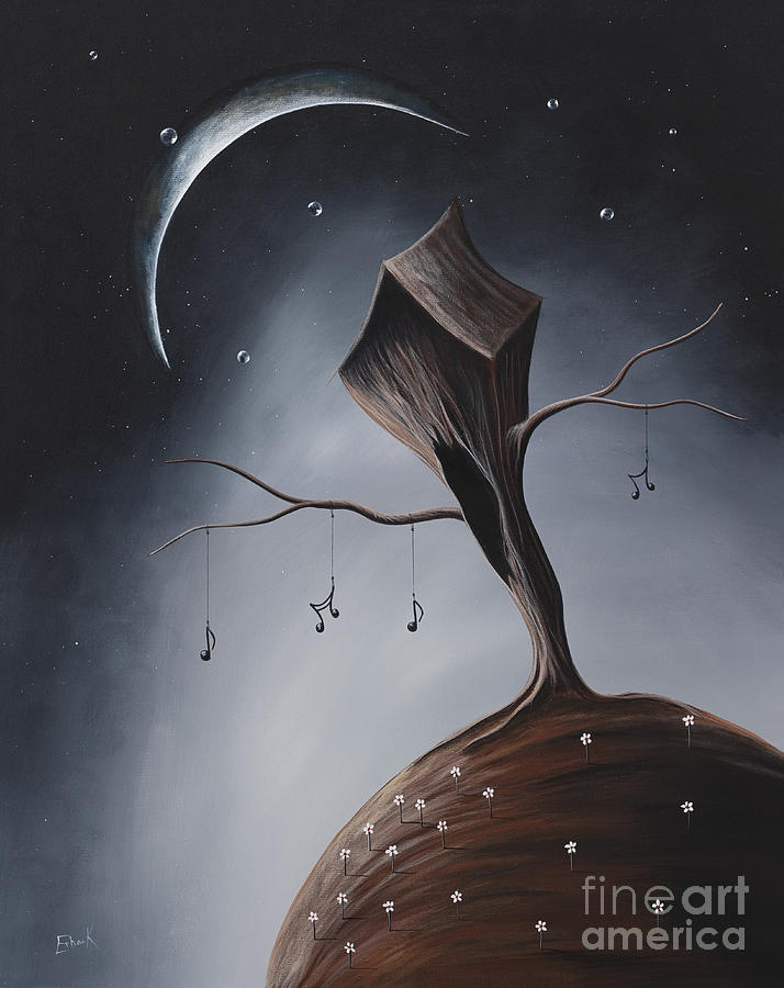 Trees Painting - Send Me Your Love While I Sleep By Shawna Erback by Shawna Erback