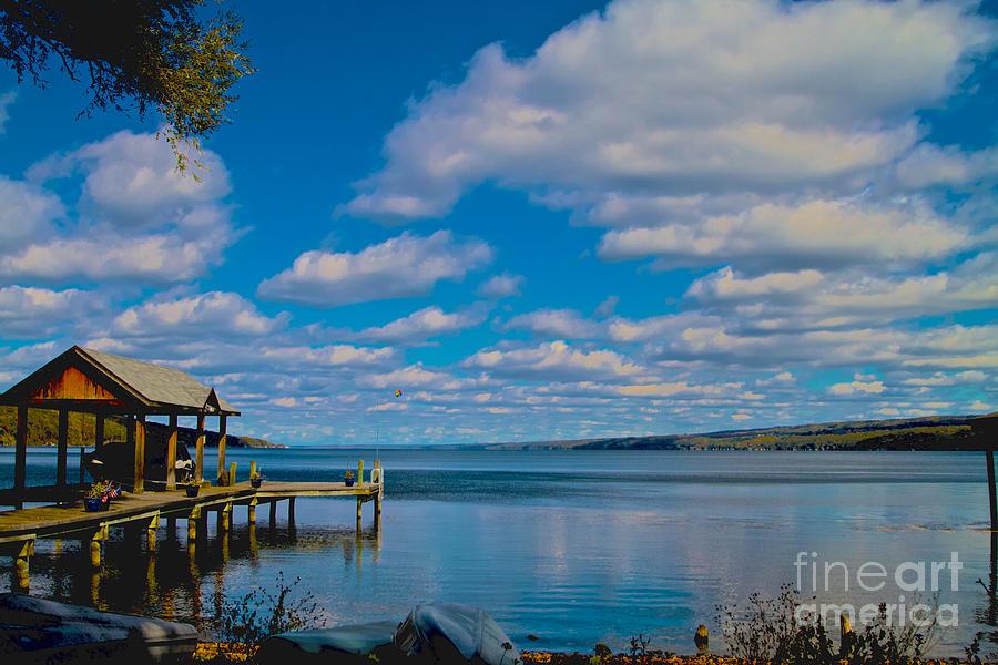Seneca Photograph - Seneca Lake At Glenora Point by William Norton
