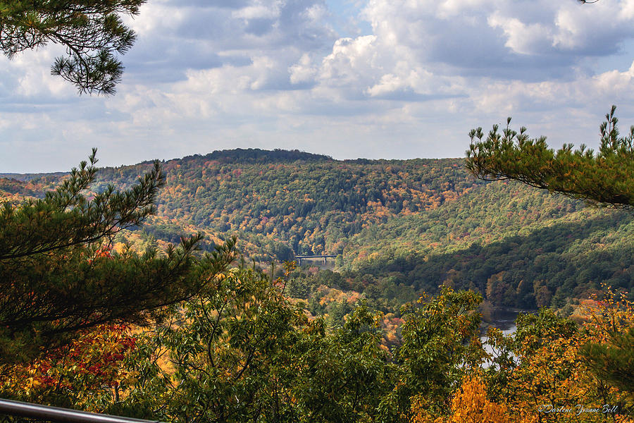 Autumn Photograph - Seneca Point Overlook by Darlene Bell