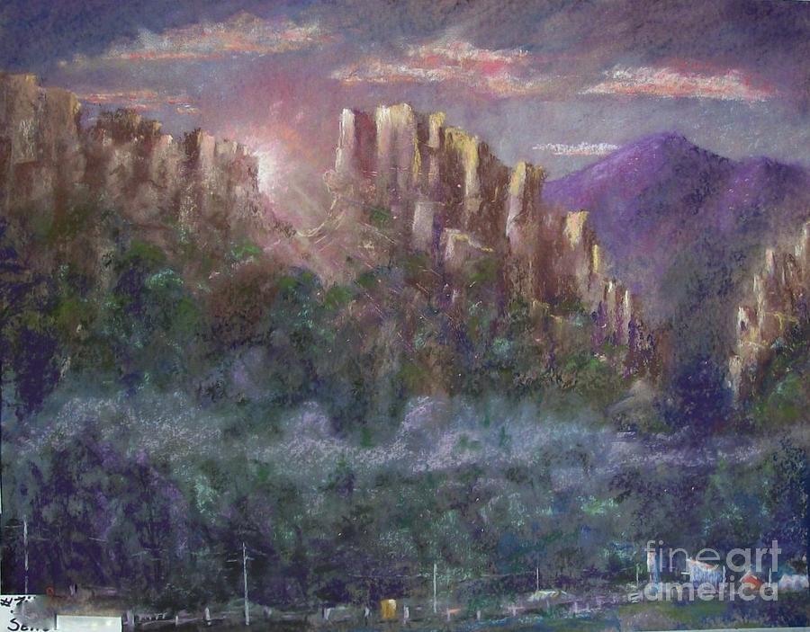 Landscape Pastel - Seneca Sunrise by Bruce Schrader