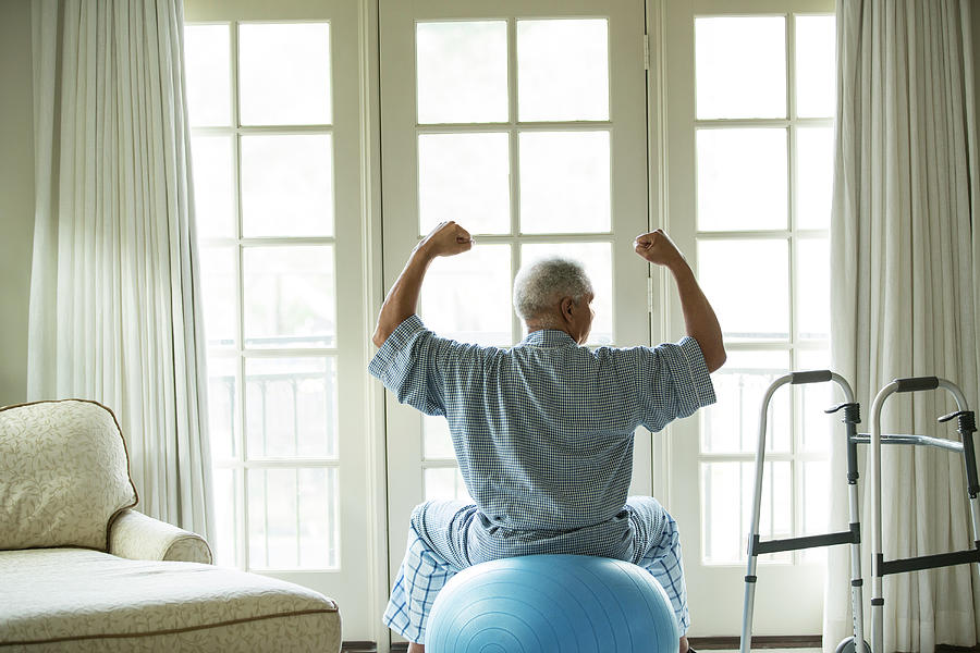 Senior African American Man On Fitness Photograph by Tvp Inc
