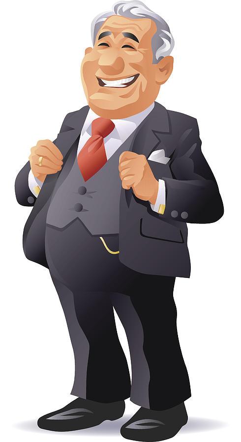 Senior Businessman Drawing by Kbeis