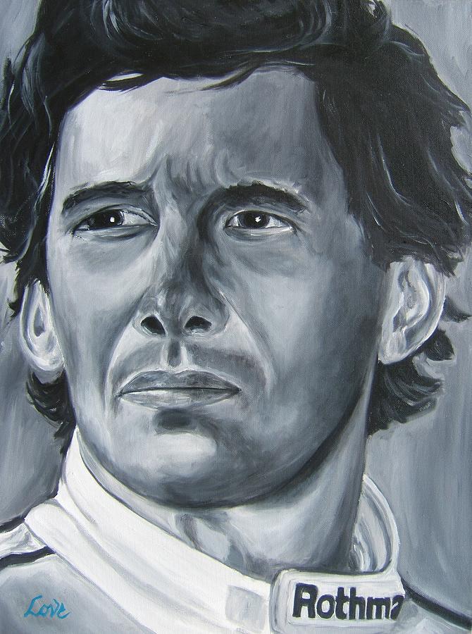 Ayrton Senna Painting - Senna Daze by Joseph Love