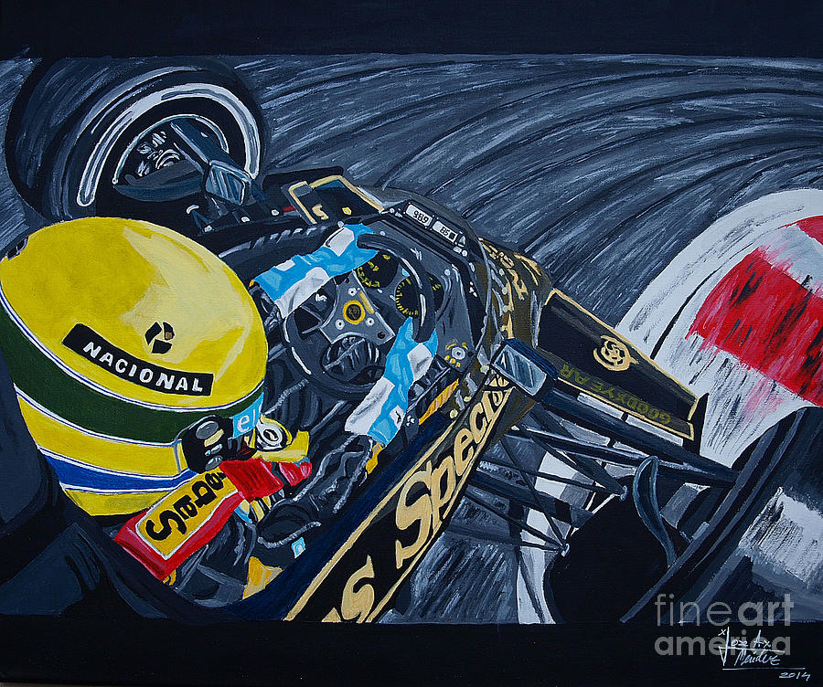 Senna Painting - Senna Onboard by Jose Mendez