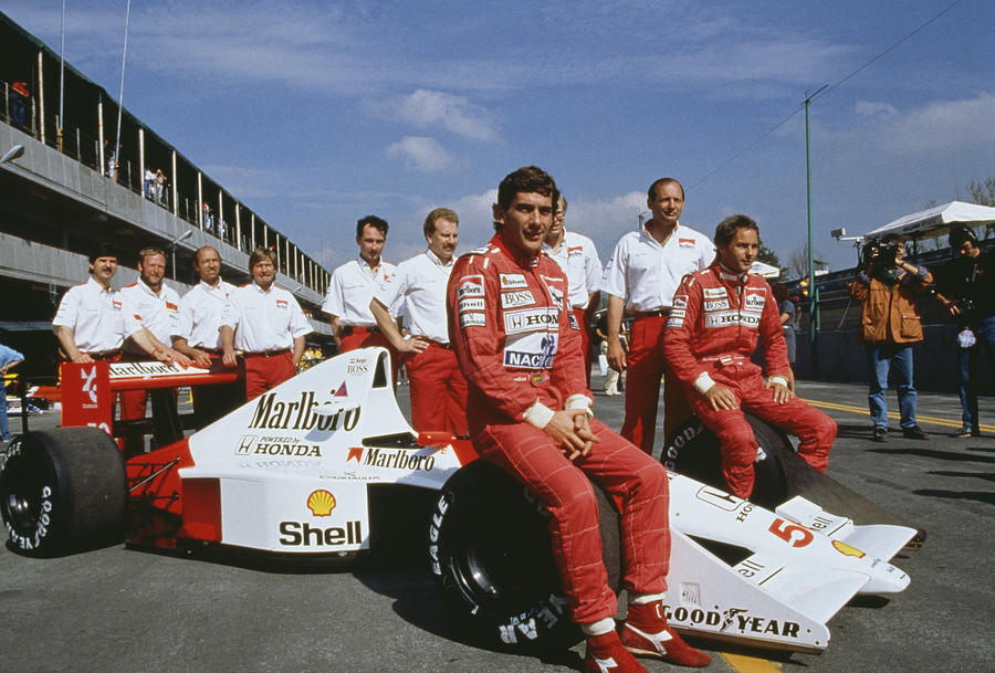 Senna With Mclaren Team Photograph by Getty Images
