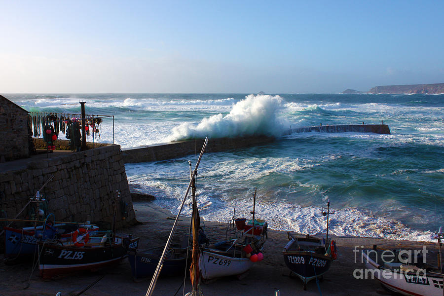 Sennen Cove Photograph - Sennen Cove Harbour Cornwall by Terri Waters