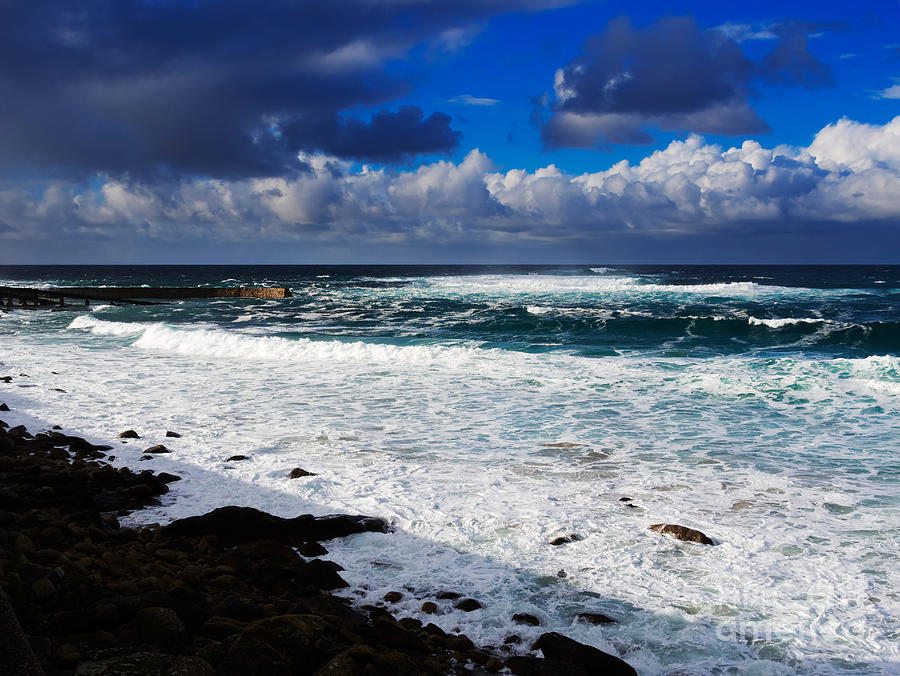 Waves Photograph - Sennen Cove In Cornwall by Louise Heusinkveld