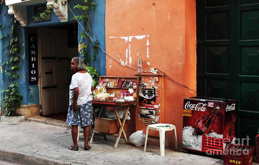 People Photograph - Senora De Cartagena by John Rizzuto
