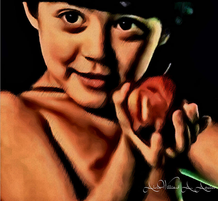 Red Apple Painting - Sense Of Innocence  by Withintensity  Touch