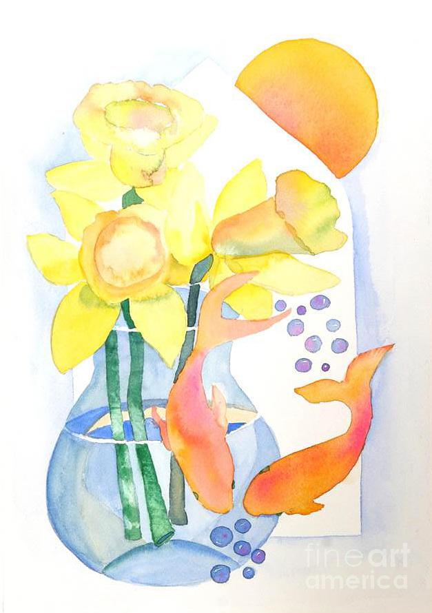 Orange Painting - Sense Of Liberation by Shirin Shahram Badie