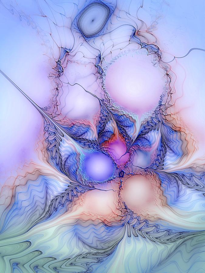 Abstract Digital Art - Sensorial Cognizance by Casey Kotas