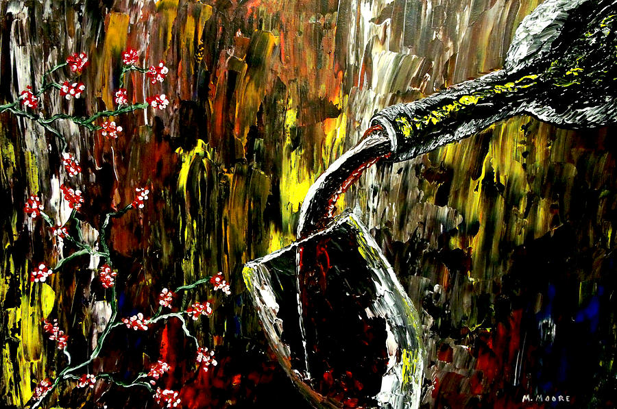 Wine Painting - Sensual Moments by Mark Moore