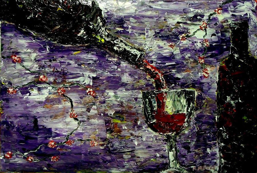 Wine Painting - Sensual Pleasures  by Mark Moore