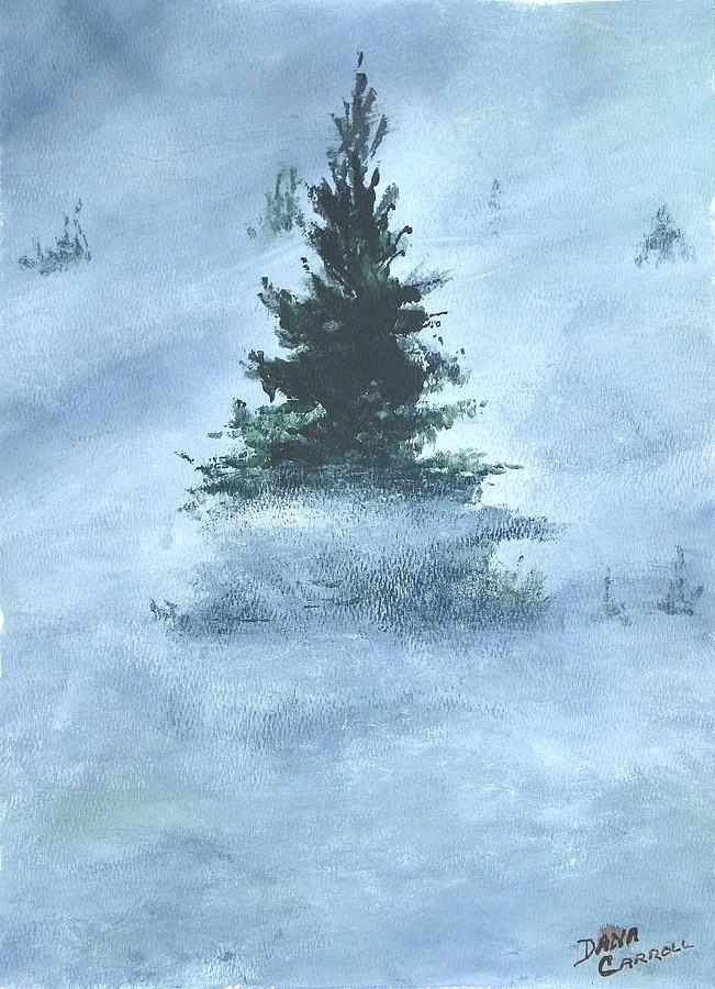 Trees Painting - Sentinel Above The Clouds by Dana Carroll