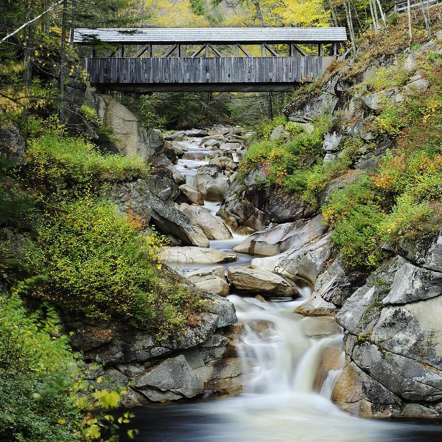 Square Photograph - Sentinel Pine Covered Bridge by Luke Moore