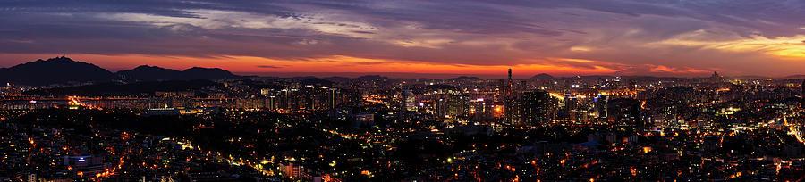 Seoul, Korea Cityscape At Dusk Photograph by Picturelake