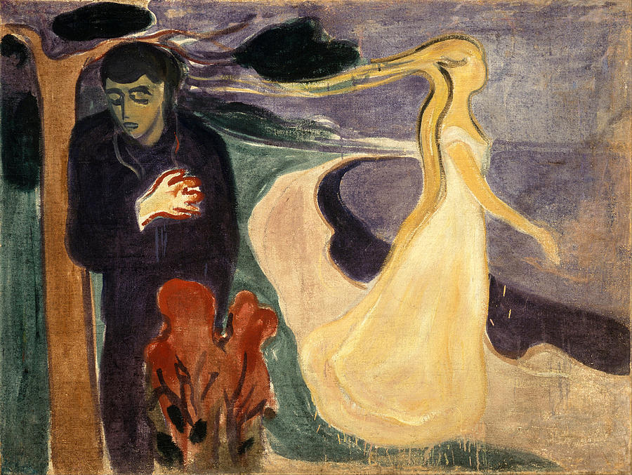 Edvard Munch Painting - Separation by Edvard Munch