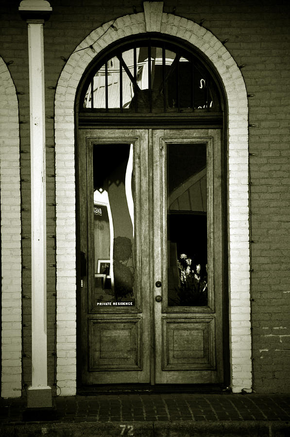 Sepia Photograph - Sepia Door by Cherie Haines