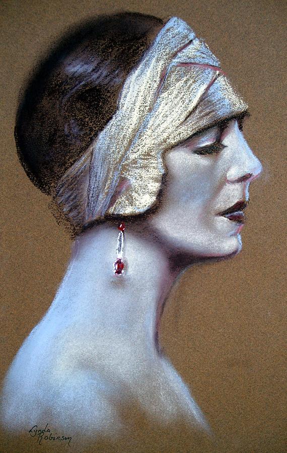 Lynda Robinson Painting - Sepia Siren by Lynda Robinson