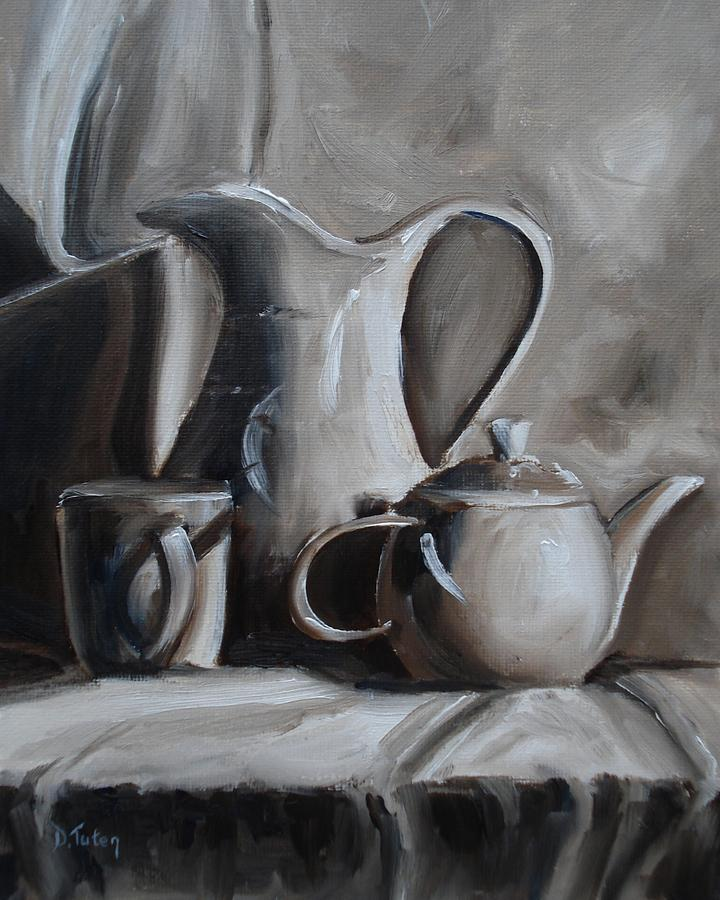 Sepia Painting - Sepia Still Life by Donna Tuten