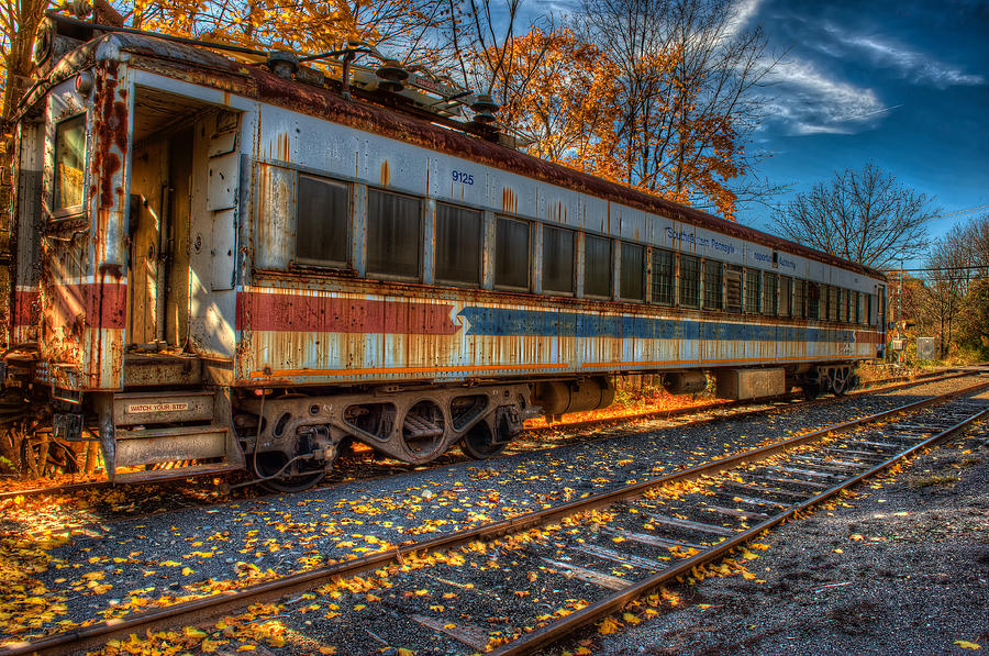 Railroad Car Photograph - Septa 9125 by William Jobes