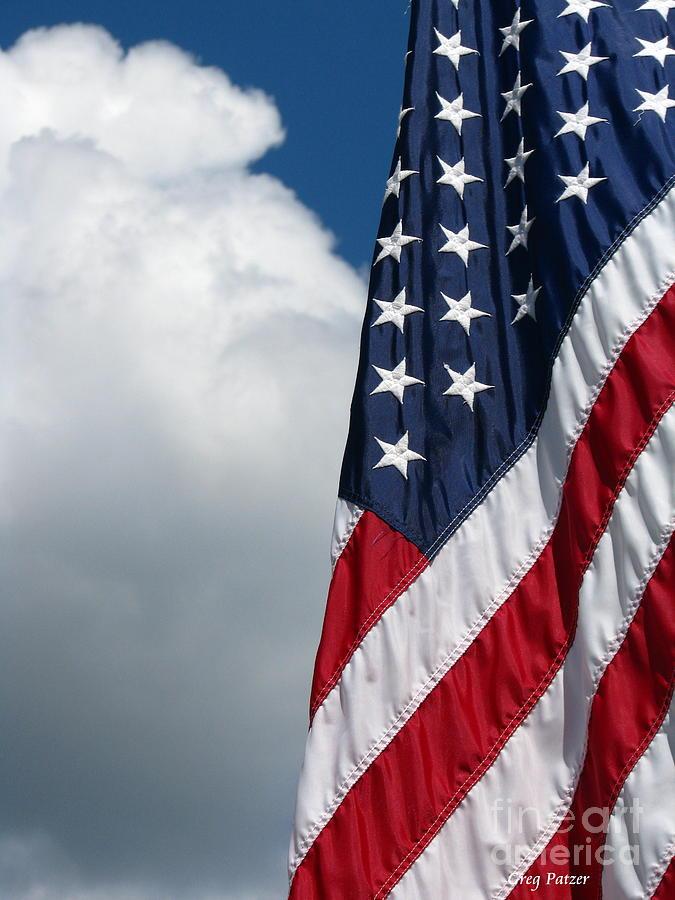 United States Flag Photograph - September Flag by Greg Patzer