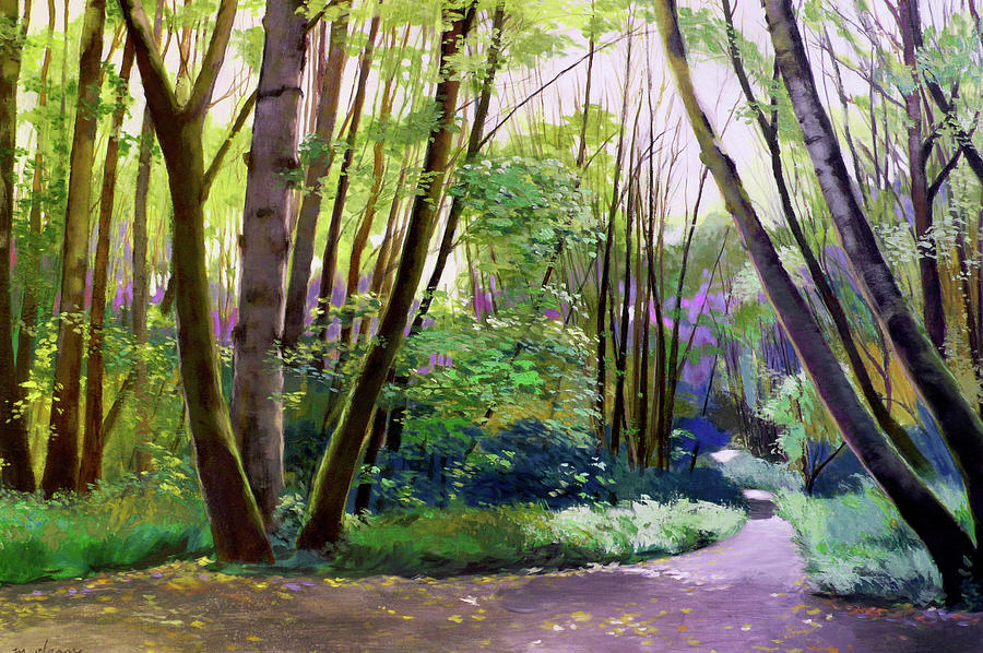 Trees Painting - September In Springbrook Park by Melody Cleary