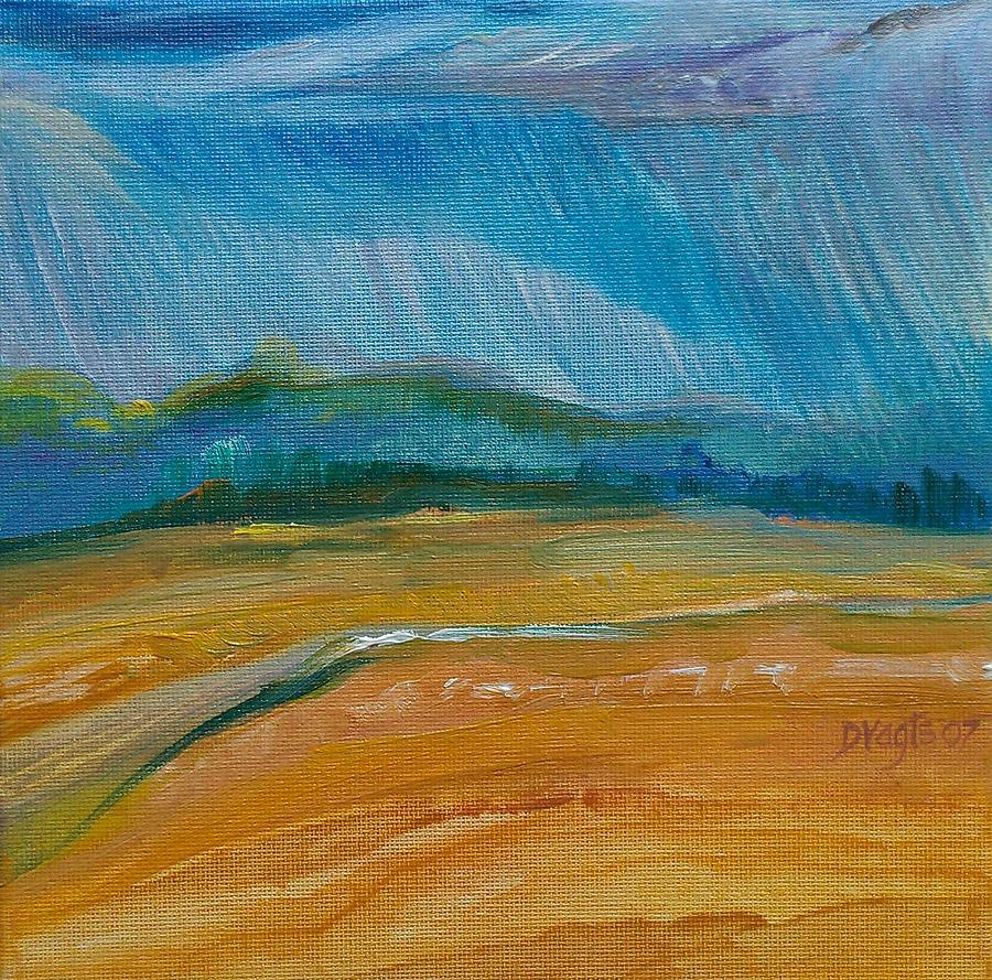 Landscape Painting - September Storm by Dawn Vagts