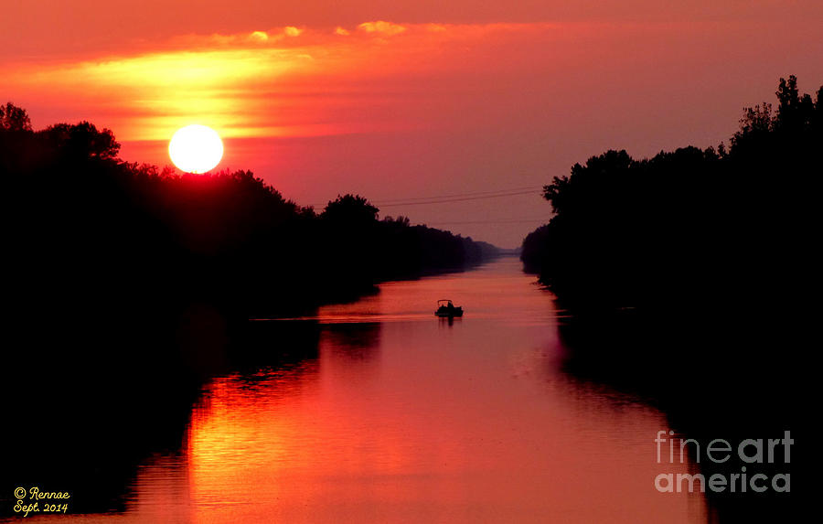 Landscape Photograph - September Sunset by Rennae Christman