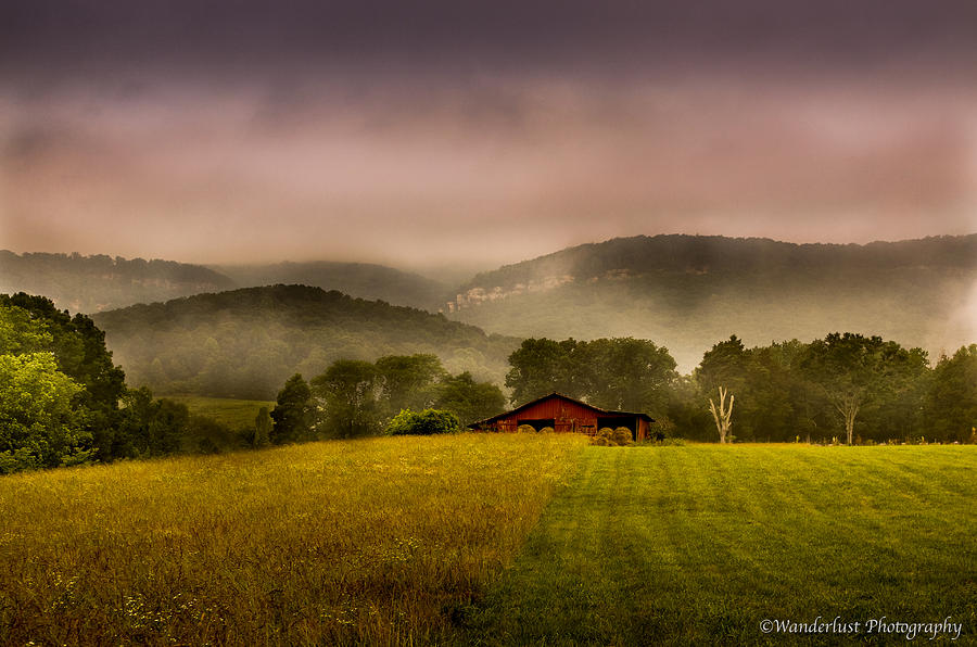 Valley Photograph - Sequatchie Vally Red Barn by Paul Herrmann