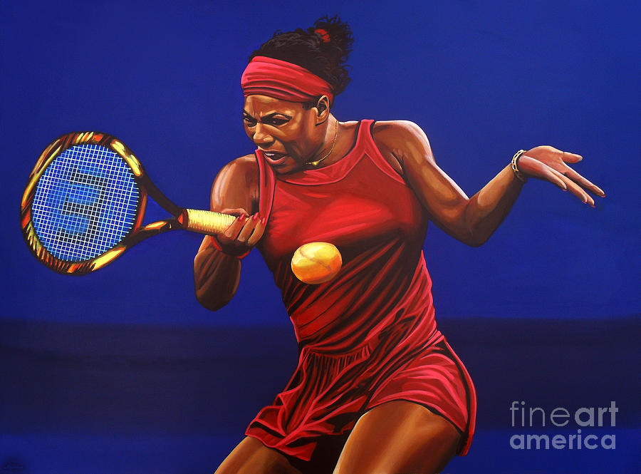 Serena williams painting painting by paul meijering for America s finest paint
