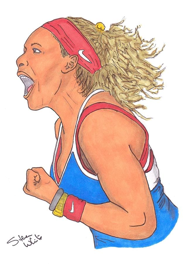 Serena Williams Drawing - Serena Williams by Steven White