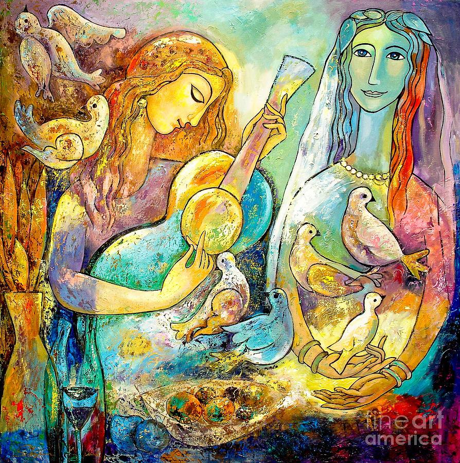 Portrait Painting - Serenade by Shijun Munns