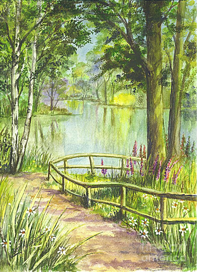 Serenity Painting - Serendipity Stroll by Carol Wisniewski