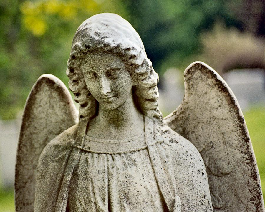 Stone Angel Photograph - Serene by Gothicrow Images