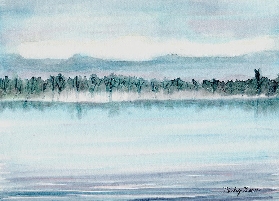 Serene Painting - Serene Lake View by Mickey Krause