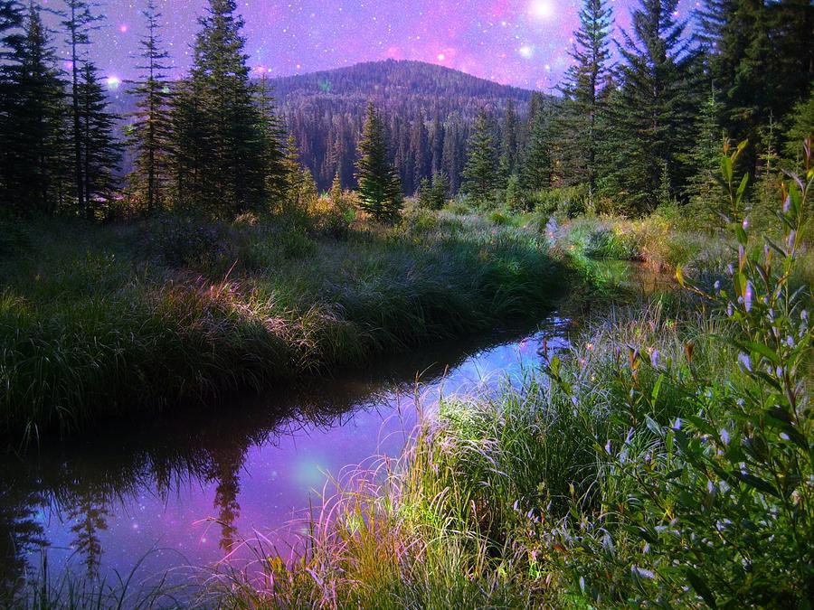 Mountain Photograph - Serene Mountain Moment by Shirley Sirois
