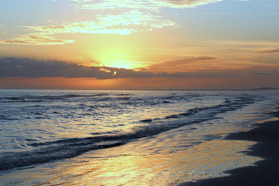 Sunset Photograph - Serene Shores by Rosanne Jordan