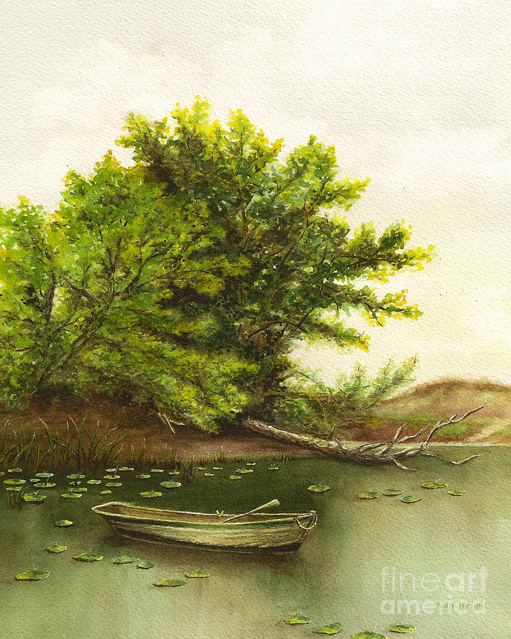 Landscape Painting - Serene Solitude by Nan Wright