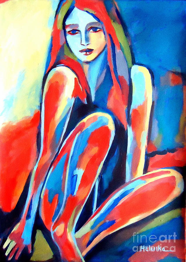 Nude Figures Painting - Serene Thoughts by Helena Wierzbicki