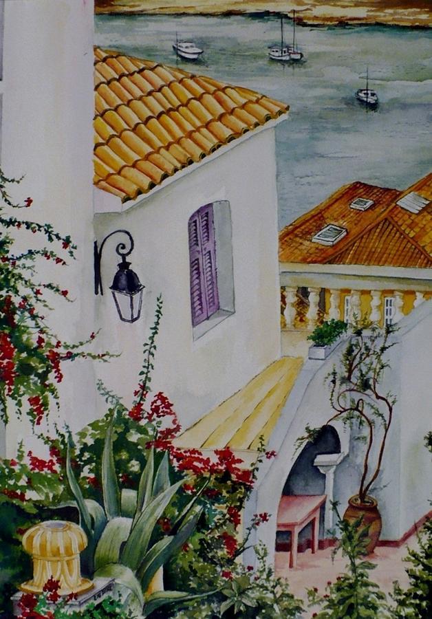 Tuscany Painting - Serene Villa by Maris Liepins